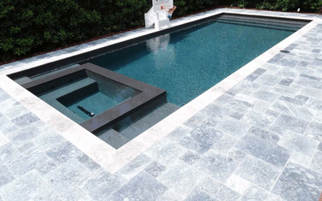 Travertine Pavers Give Your Pool A Unique Look